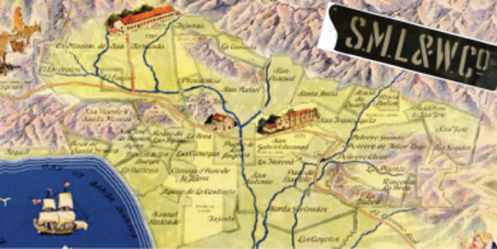 Map of Westside Ranchos